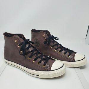 Converse Brown Leather High Tops